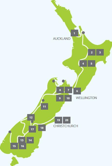 karte kleingruppenreise Neuseeland Wander und Studienreise 20 tage