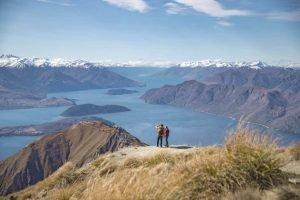 Wanaka Roys Peak Neuseelandreise Urlaub Mietwagen Gruppentour geführt deutschsprachig Reiseleiter Neuseeland Reiseveranstalter Reiseanbieter deutsch Luxusreisen Neuseeland erlebnisreise Studienreise Auckland
